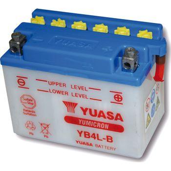 Akku YUASA Batterie YB 4L-B ohne Säurepack battery without